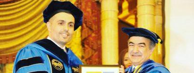 Dr. Rassel Kassem NYIT Distinguished Alumni Award د. راسل قاسم